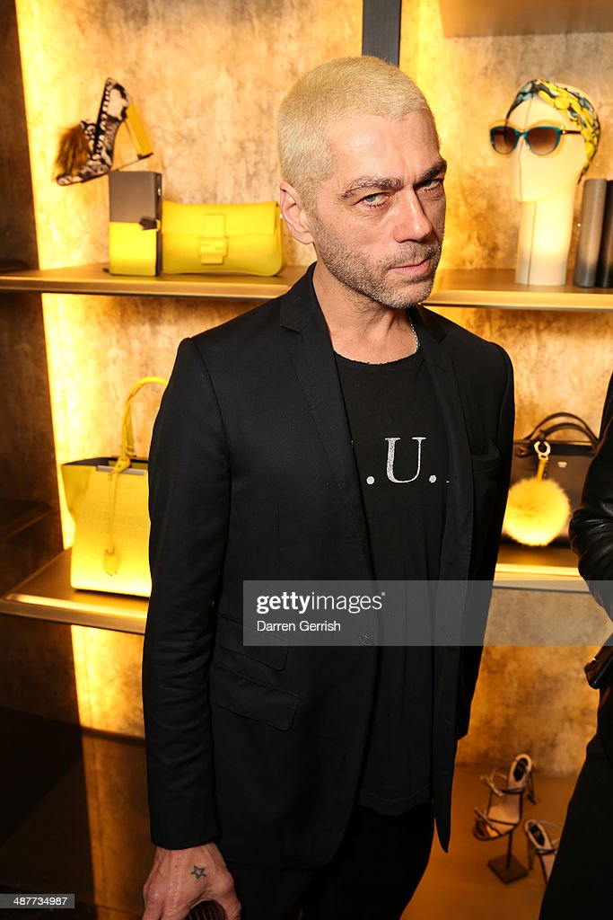 <a gi-track='captionPersonalityLinkClicked' href=/galleries/search?phrase=Tim+Noble&family=editorial&specificpeople=2622694 ng-click='$event.stopPropagation()'>Tim Noble</a> attends the Fendi Flagship store launch at Fendi on May 1, 2014 in London, England.