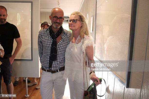 Tim O'Brien and Lynda Wiggins attend Gustavo Bonevardi Opening at Gallery B on May 30 2010 in Sag Harbor New York
