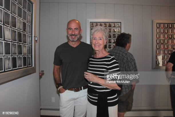Tim O'Brien and Mary Gettings attend Artist Reception for John Gettings 'Photographs' at B Gallery on August 7 2010 in New York City