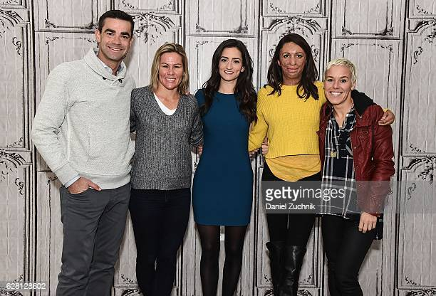 Tim O'Donnell Mirinda Carfrae Jen Ator Turia Pitt and Heather Jackson attend AOL Build to discuss the new show 'Ironman World Championship' at AOL HQ...
