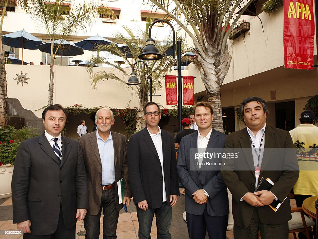Tim O'Hair, William Stuart, Robert Katz, Doug Hansen, and D'Arey Conrique attend the 2009 American Film Market - Day 6, Case Study: How to Package and Finance Your Independent Project Overseas at the Le Merigot Hotel on November 9, 2009 in Santa Monica, California.