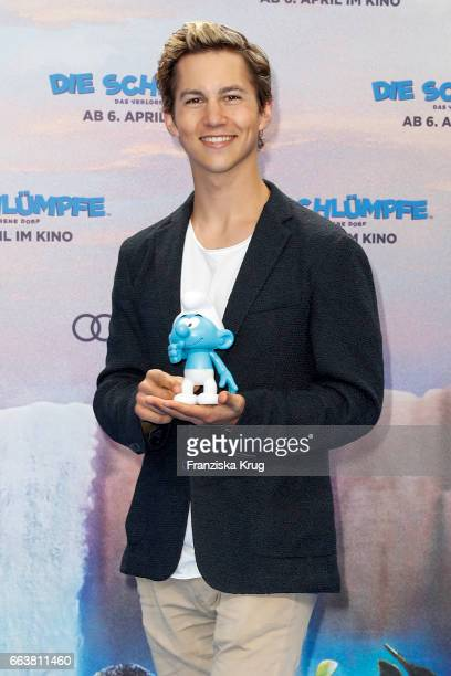 Tim Oliver Schultz attends 'Die Schluempfe Das verlorene Dorf' Berlin Premiere at Sony Centre on April 2 2017 in Berlin Germany