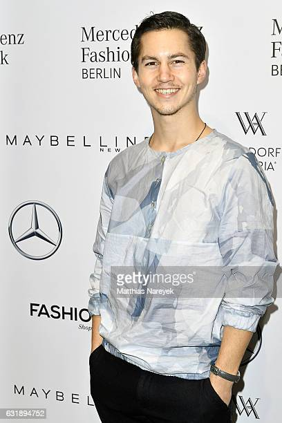 Tim Oliver Schultz attends the Hien Le show during the MercedesBenz Fashion Week Berlin A/W 2017 at Kaufhaus Jandorf on January 17 2017 in Berlin...