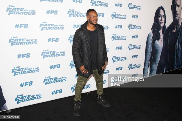 Tim Omaji arrives ahead of The Fate of the Furious Sydney Premiere on April 11 2017 in Sydney Australia