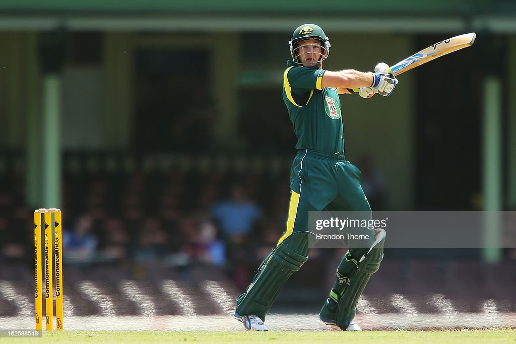 Tim Paine of Australia 'A' bats during the International Tour match between Australia 'A' and the England Lions at Sydney Cricket Ground on February 25, 2013 in Sydney, Australia.