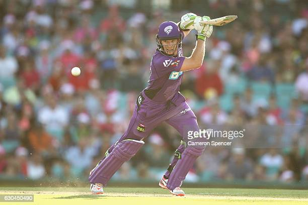 Tim Paine of the Hurricanes bats during the Big Bash League match between the Sydney Sixers and Hobart Hurricanes at Sydney Cricket Ground on...