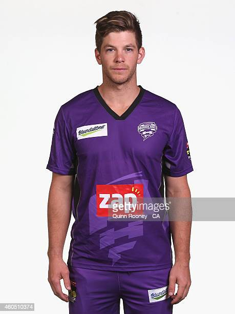 Tim Paine of the Hurricanes poses during the Hobart Hurricanes Big Bash League headshots session at the TCA Ground on December 16 2014 in Hobart...