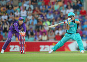 Tim Paine of the Hurricanes stumps Daniel Christian of the Heat during the Big Bash League match between the Hobart Hurricanes and the Brisbane Heat...