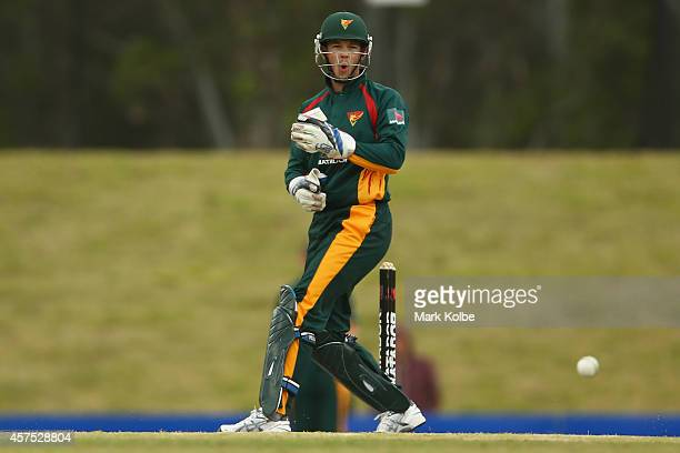Tim Paine of the Tigers reacts after a near chance during a Matador BBQs One Day Cup match between New South Wales and Tasmania at Blacktown...