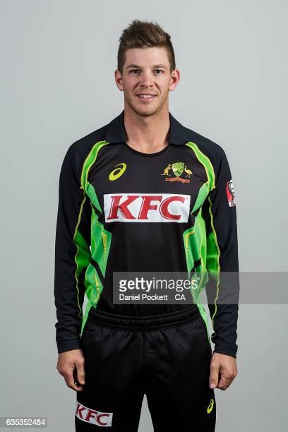 Tim Paine poses during the Australian Mens Twenty20 Headshots Session on February 14 2017 in Melbourne Australia