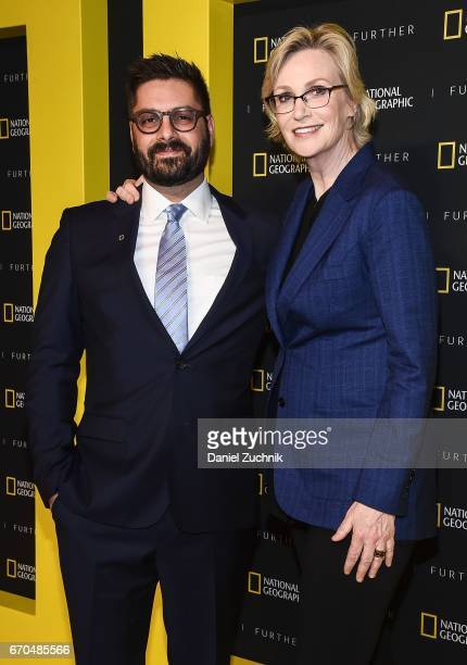 Tim Pastore and Jane Lynch attend the 2017 National Geographic FURTHER FRONT at Jazz at Lincoln Center's Frederick P Rose Hall on April 19 2017 in...