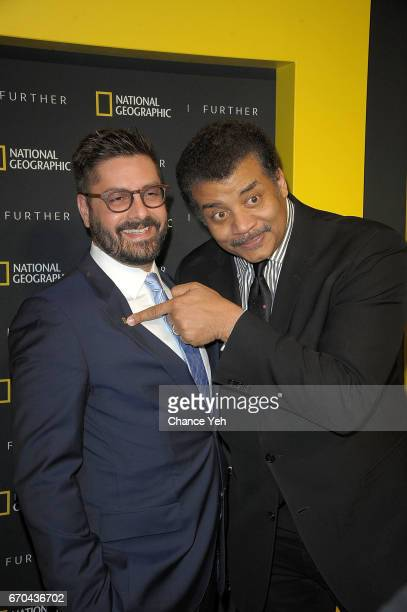Tim Pastore and Neil deGrasse Tyson attend National Geographic FURTHER FRONT at Jazz at Lincoln Center's Frederick P Rose Hall on April 19 2017 in...