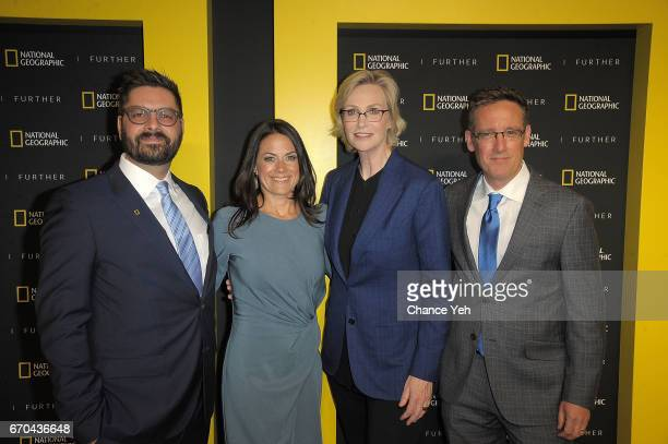 Tim Pastore Courteney Monroe Jane Lynch and Geoff Daniels attend National Geographic FURTHER FRONT at Jazz at Lincoln Center's Frederick P Rose Hall...