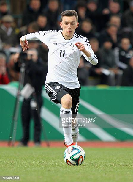 Tim Probst of Germany during the U16 international friendly match between Germany and Czech Republic at Stadion an der Kriekauer Strasse on March 25...