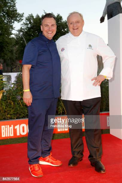 Tim Raue and Alfons Schubeck attend the BILD100 event at Axel Springer Haus on September 4 2017 in Berlin Germany