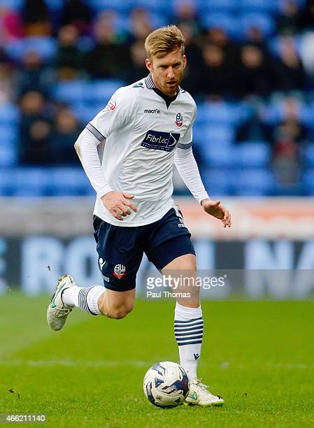 Tim Ream of Bolton in action during the Sky Bet Championship match between Bolton Wanderers and Millwall at the Macron Stadium on March 14 2015 in...