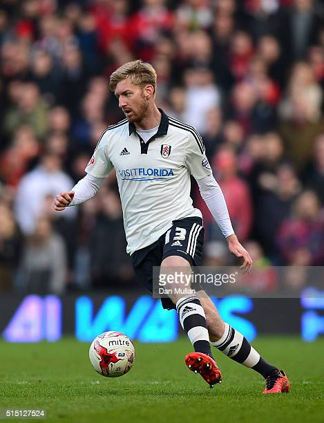 Tim Ream of Fulham controls the ball during the Sky Bet Championship match between Fulham and Bristol City at Craven Cottage on March 12 2016 in...