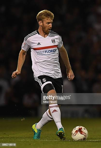 Tim Ream of Fulham in action during the Sky Bet Championship match between Fulham and Newcastle United at Craven Cottage on August 5 2016 in London...
