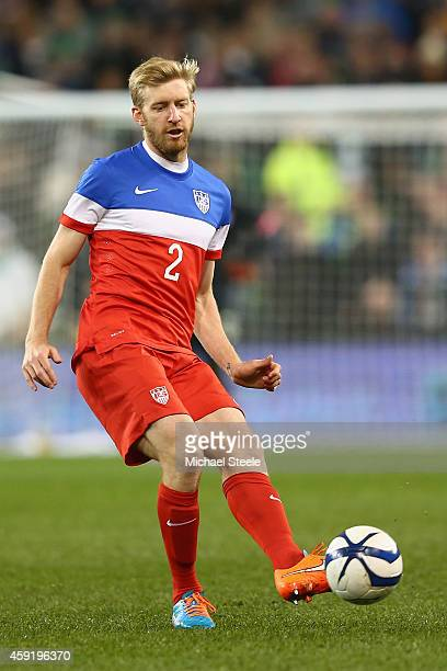 Tim Ream of USA during the International Friendly match between the Republic of Ireland and USA at the Aviva Stadium on November 18 2014 in Dublin...