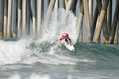 Tim Reyes of USA in action during his Round 4 Heat at the Vans US Open of Surfing on August 1 2015 in Huntington Beach California