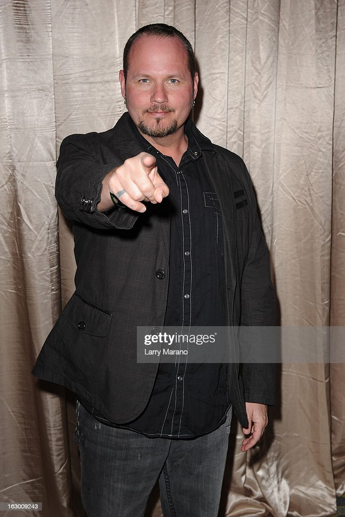 Tim Ripper Owens attends Classic Rock And Roll Party to benefit HomeSafe at Seminole Hard Rock Hotel on March 2, 2013 in Hollywood, Florida.