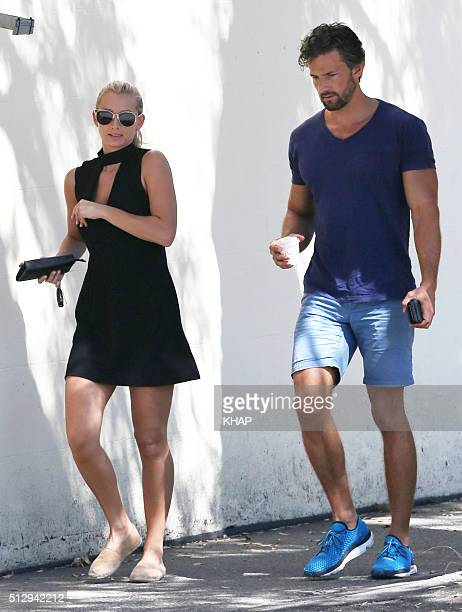 Tim Robards and Anna Heinrich are seen on February 28 2016 in Sydney Australia