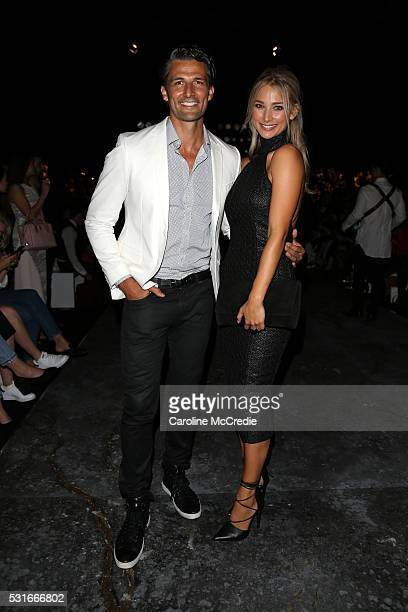 Tim Robards and Anna Heinrich arrive ahead of the Misha Collection show at MercedesBenz Fashion Week Resort 17 Collections at Carriageworks on May 16...
