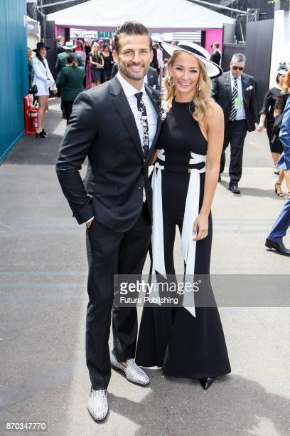Tim Robards and Anna Heinrich arrive at the Melbourne Cup Carnival on November 4 2017PHOTOGRAPH BY Chris Putnam / Barcroft Images LondonT44 207 033...