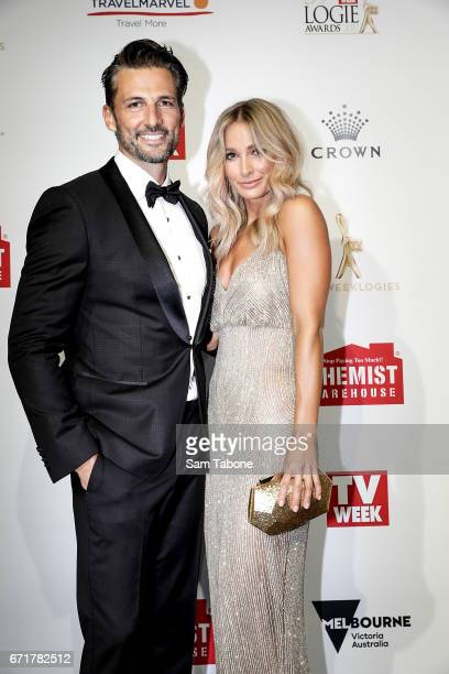 Tim Robards and Anna Heinrich arrives at the 59th Annual Logie Awards at Crown Palladium on April 23 2017 in Melbourne Australia