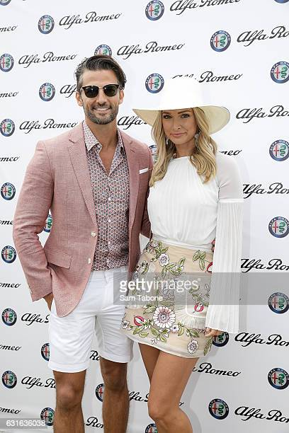 Tim Robards and Anna Heinrich attend Portsea Polo on January 14 2017 in Melbourne Australia