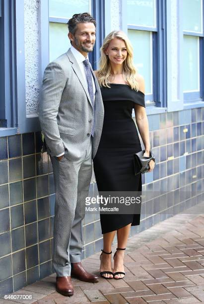 Tim Robards and Anna Heinrich pose at the Australian Turf Club 2017 Sydney Carnival Launch at Royal Randwick Racecourse on February 28 2017 in Sydney...