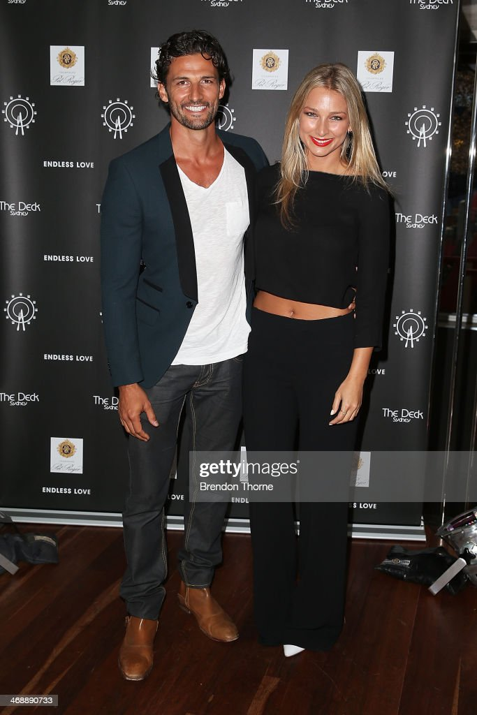 Tim Robards and Anna Heinrich pose during Luna Park's 2014 Valentine's event at Luna Park on February 12, 2014 in Sydney, Australia.