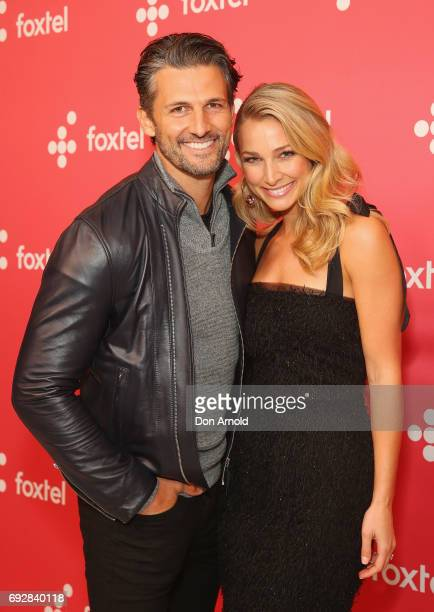 Tim Robards and Anna Heinrich poses during a Foxtel Event at Hordern Pavilion on June 6 2017 in Sydney Australia