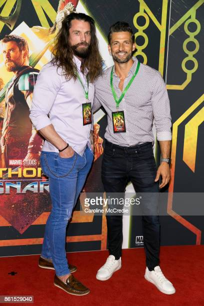 Tim Robards and guest attend the THOR RAGNAROK Sydney special event screening at Hoyts Entertainment Quarter Sydney Australia on October 15 2017 in...