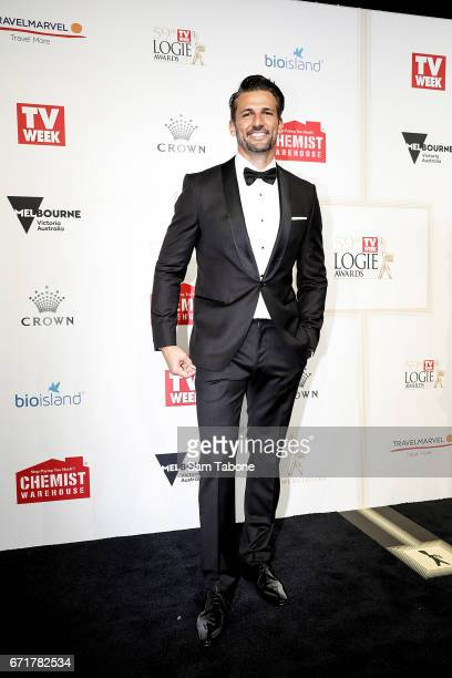 Tim Robards arrives at the 59th Annual Logie Awards at Crown Palladium on April 23 2017 in Melbourne Australia