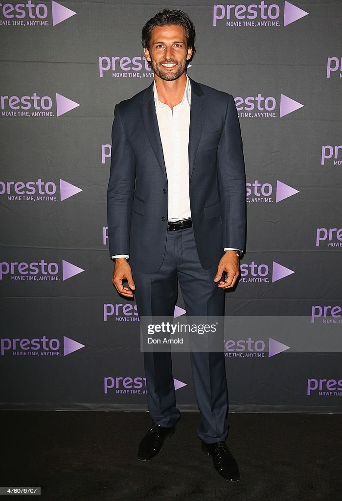 Tim Robards poses at the Foxtel Presto launch at the Ivy on March 12, 2014 in Sydney, Australia.