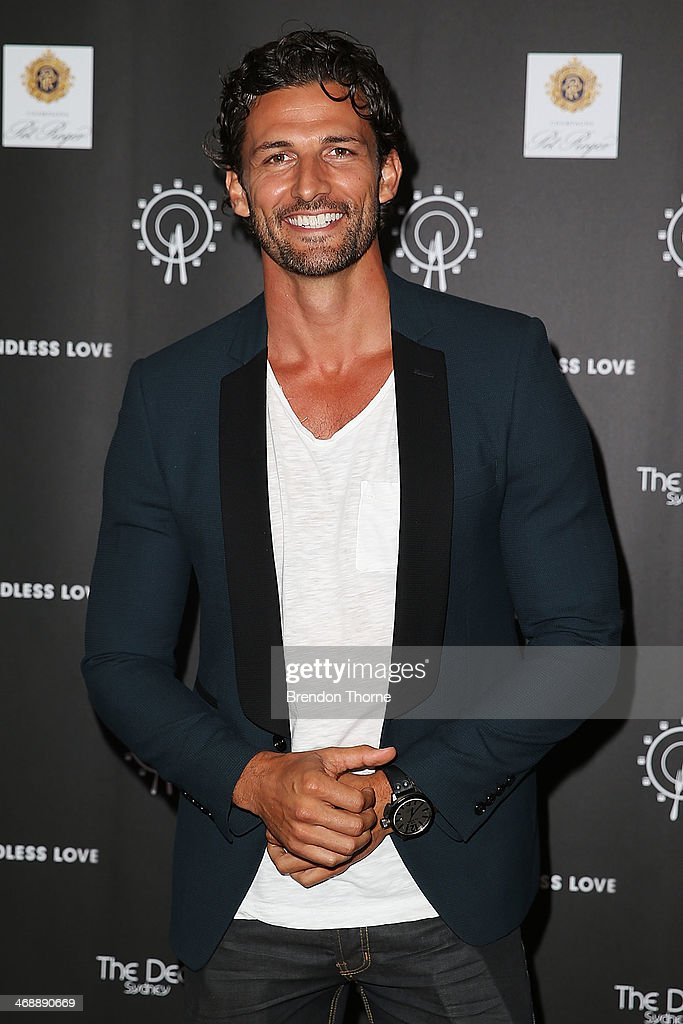 Tim Robards poses during Luna Park's 2014 Valentine's event at Luna Park on February 12, 2014 in Sydney, Australia.