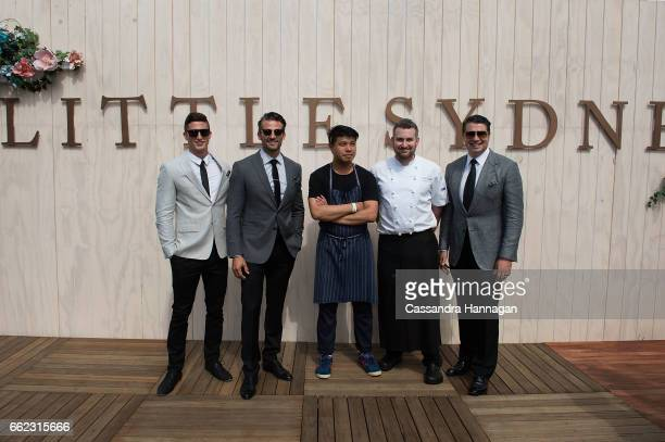 Tim RobardsFrank Shek Mark Axisa and Anthony Puharich at the Little Sydney venue at The Championships Day 1 at Royal Randwick Racecourse on April 1...