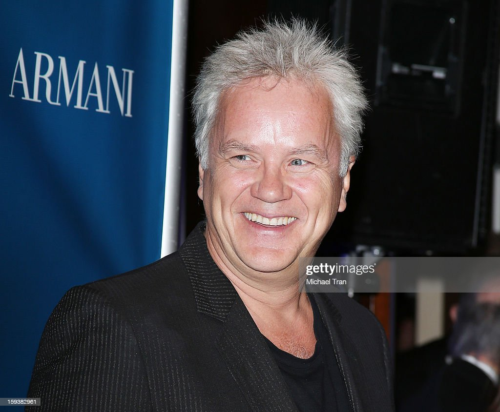 <a gi-track='captionPersonalityLinkClicked' href=/galleries/search?phrase=Tim+Robbins&family=editorial&specificpeople=182439 ng-click='$event.stopPropagation()'>Tim Robbins</a> arrives at the 2nd Annual Sean Penn & Friends 'Help Haiti Home' held at Montage Hotel on January 12, 2013 in Los Angeles, California.