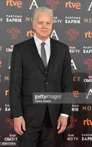 Tim Robbins attends Goya Cinema Awards 2016 at Madrid Marriott Auditorium on February 6 2016 in Madrid Spain