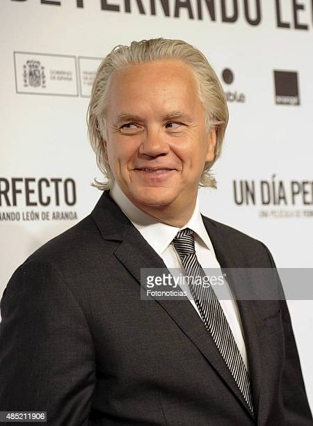 Tim Robbins attends the 'A Perfect Day' Premiere at Palafox Cinema on August 25 2015 in Madrid Spain