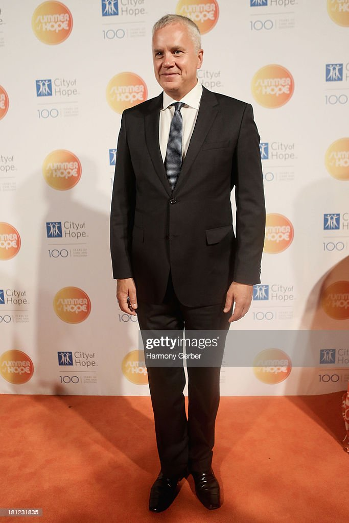 <a gi-track='captionPersonalityLinkClicked' href=/galleries/search?phrase=Tim+Robbins&family=editorial&specificpeople=182439 ng-click='$event.stopPropagation()'>Tim Robbins</a> attends the City of Hope's 2013 Spirit of Life Gala at The Hercules Campus on September 19, 2013 in Playa Vista, California.