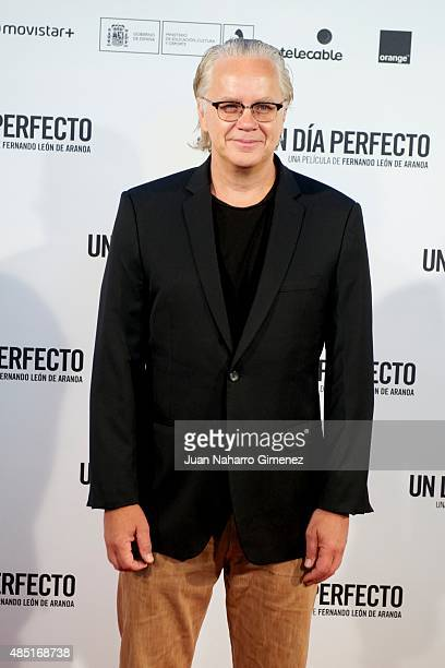 Tim Robbins attends 'Un Dia Perfecto' photocall at Villamagna Hotel on August 25 2015 in Madrid Spain