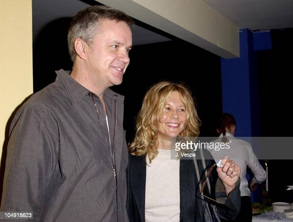 Tim Robbins Meg Ryan during Opening Night of Klaus Mann's Mephisto a play directed by Tim Robbins at Actors' Gang Theater in Los Angeles California...