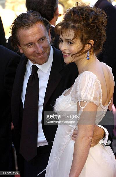 Tim Roth and Helena Bonham Carter during 2006 Cannes Film Festival Marie Antoinette Premiere at Palais des Festival in Cannes France