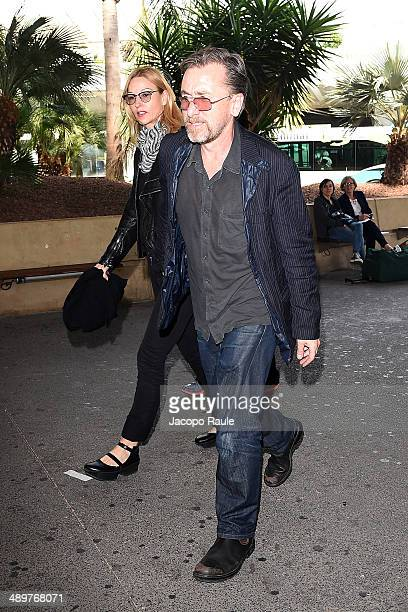 Tim Roth and Nikki Butler are seen arriving in Nice for the 67th Annual Cannes Film Festival on May 12 2014 in Nice France