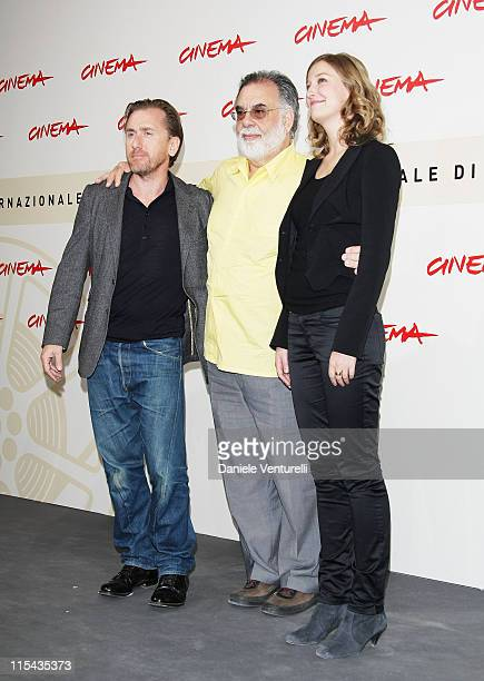 Tim Roth director Francis Ford Coppola and Alexandra Maria Lara attend the 'Youth Without Youth' photocall during Day 3 of the 2nd Rome Film Festival...