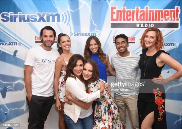 Tim Rozon Tamara Duarte Emily Andras Melanie Scrofano Dominique ProvostChalkley Varun Saranga and Katherine Barrell attend SiriusXM's Entertainment...
