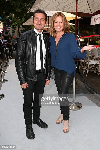 Tim Seyfi and Karin Thaler during the Peugeot BVC Casting Night during the Munich Film Festival 2016 at Kaeferschaenke on June 26 2016 in Munich...