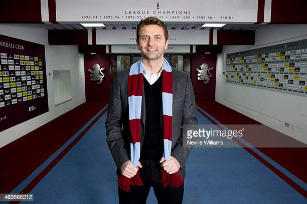 Tim Sherwood is unveiled as the new manager of Aston Villa at Villa Park on February 16 2015 in Birmingham England